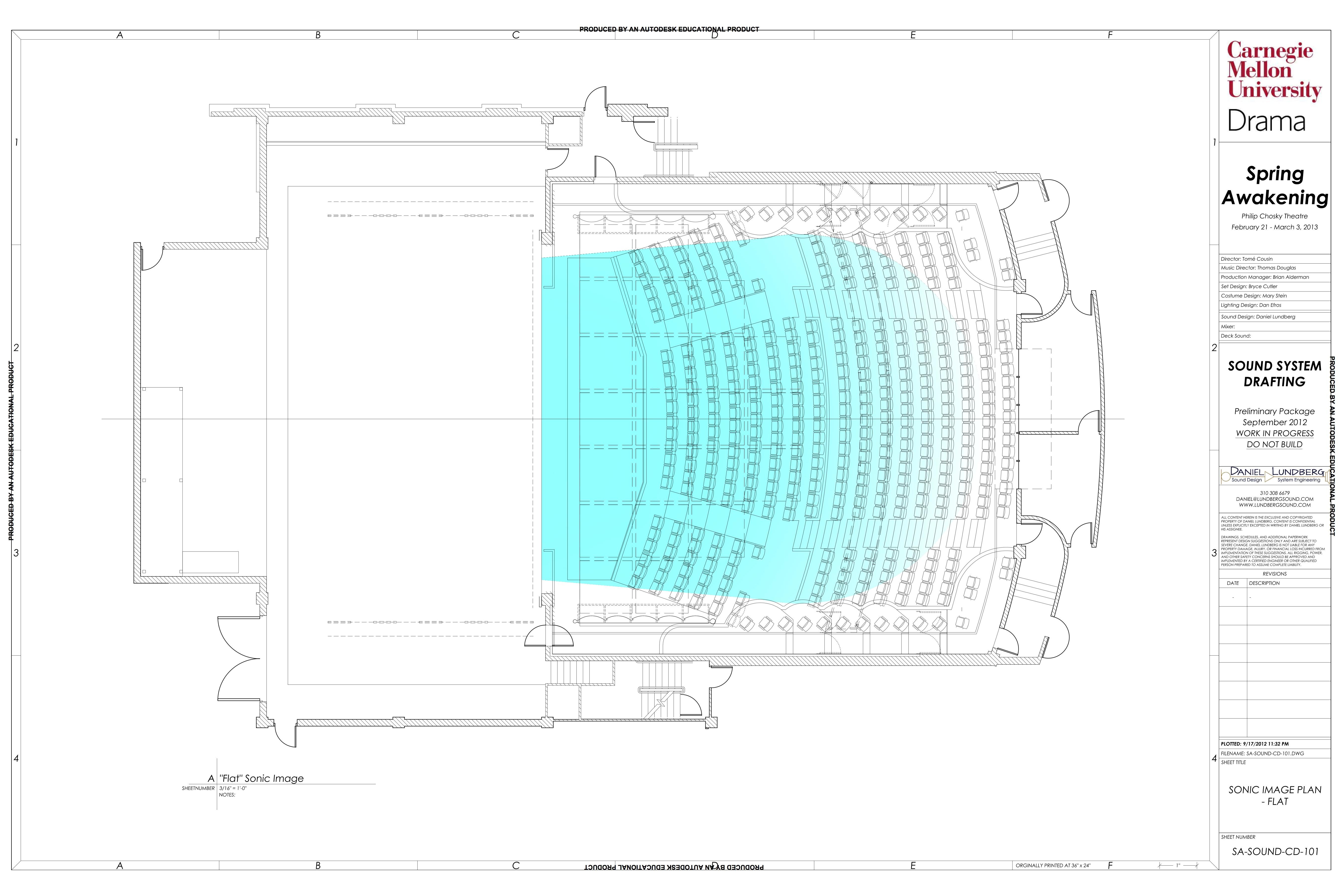 The Sound Design for Spring Awakening at Carnegie Mellon